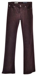 AG Adriano Goldschmied Cords Corduroy Maroon Wine Boot Cut Jeans