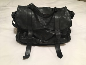 Proenza Schouler Leather Ps1 Proenza Xl Black Messenger Bag