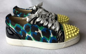 Christian Louboutin yellow green blue leopard Athletic