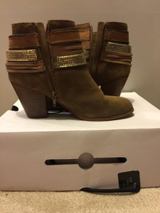 ALDO Brown & Gold Boots