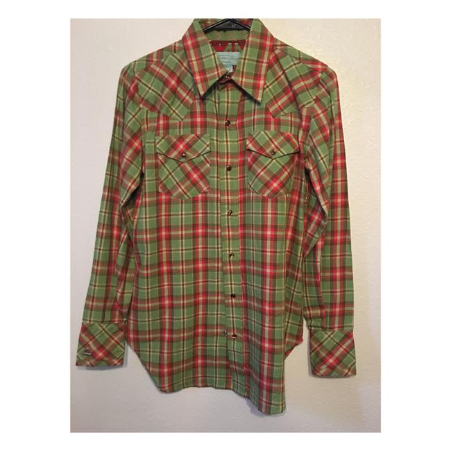 Tasha Polizzi Button Down Shirt Plaid Image 0