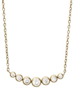 Michael Kors Michael Kors MKJ4952710 Park Ave Crystals Pendant Gold Chain Necklace