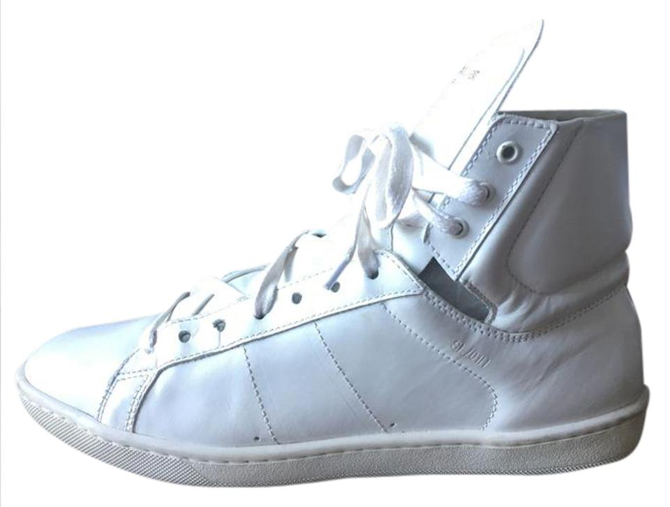 131a1bc0 Saint Laurent White Signature Court Classic Sl/01h High Top Sneakers Size  US 8.5 Regular (M, B) 71% off retail