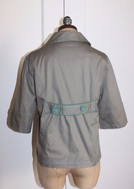 Anthropologie Hazel Piping GREEN Jacket Image 1