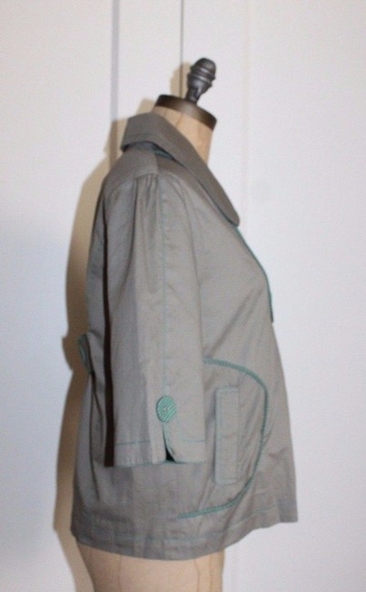 Anthropologie Hazel Piping GREEN Jacket Image 2