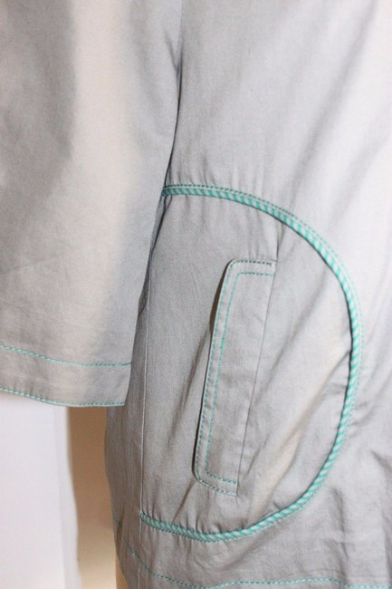 Anthropologie Hazel Piping GREEN Jacket Image 3