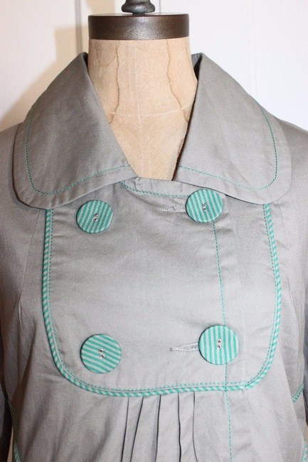 Anthropologie Hazel Piping GREEN Jacket Image 4