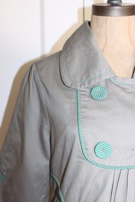 Anthropologie Hazel Piping GREEN Jacket Image 5