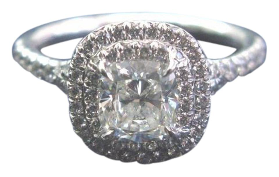 Tiffany Co H Co Platinum Cushion Cut Diamond Soleste Engagement 1 34 Ring 8 Off Retail