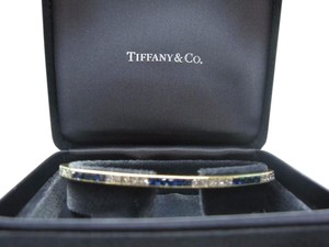 Tiffany & Co. TIFFANY & CO 18KT 7.23ct DIAMOND & SAPPHIRE Yellow Gold LINE BRACELET