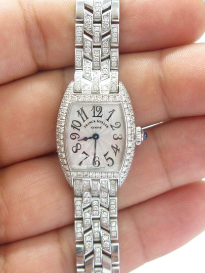 Franck Muller Franck Muller Cintree Curvex Diamond Watch #2500 QZD White Gold 18KT Image 1