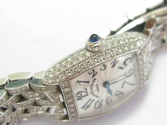 Franck Muller Franck Muller Cintree Curvex Diamond Watch #2500 QZD White Gold 18KT Image 6