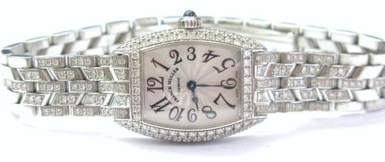 Franck Muller Franck Muller Cintree Curvex Diamond Watch #2500 QZD White Gold 18KT Image 8