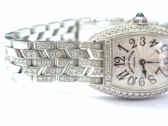 Franck Muller Franck Muller Cintree Curvex Diamond Watch #2500 QZD White Gold 18KT Image 9