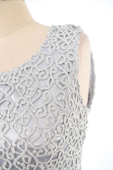 Jones New York Metallic Lace Slimming Sheath Dress Image 2