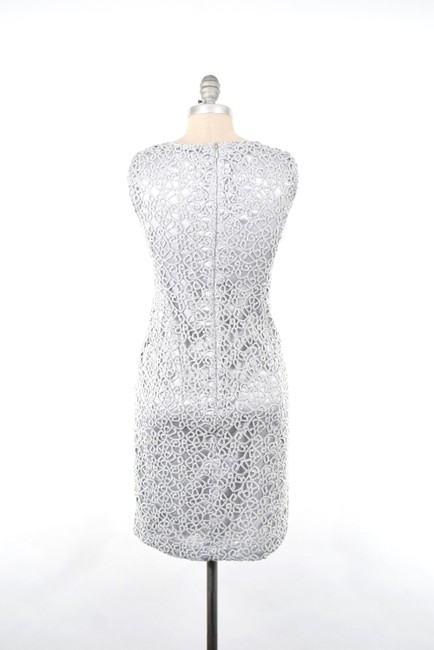 Jones New York Metallic Lace Slimming Sheath Dress Image 5