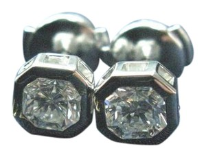 Tiffany & Co. Tiffany & Co Platinum Lucida Diamond Bezel Set Stud Earrings 1.24Ct E-