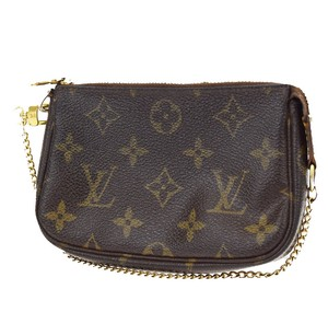 Louis Vuitton Neverfull Damier Clutch Pouchette Wristlet in Brown