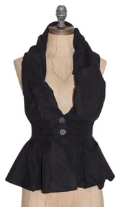 Caribbean Queen Bustle Peplum Faux Suede Evening Night Out Vest
