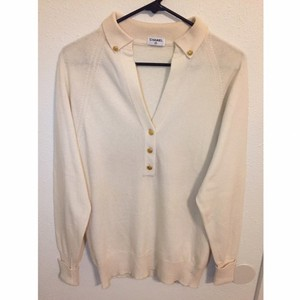 Chanel Button Down Shirt white