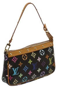 Louis Vuitton Black Mulitcolor Monogram Takashi Murakami Shoulder Bag