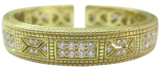 Judith Ripka Yellow Gold 18kt Diamond Cuff 2.48ct Bracelet Judith Ripka Yellow Gold 18kt Diamond Cuff 2.48ct Bracelet Image 1