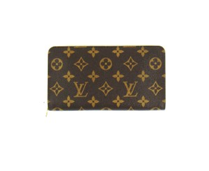 Louis Vuitton Zippy Monogram Canvas Leather Zip Clutch Long Wallet