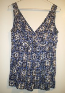 Banana Republic V-neck V-back Top Blue