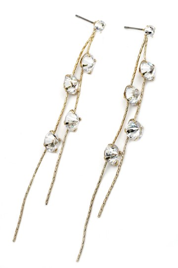 Preload https://img-static.tradesy.com/item/20933640/gold-crystal-double-wire-earrings-0-0-540-540.jpg