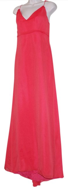 Item - Red Chiffon Gown Long Formal Dress Size 6 (S)