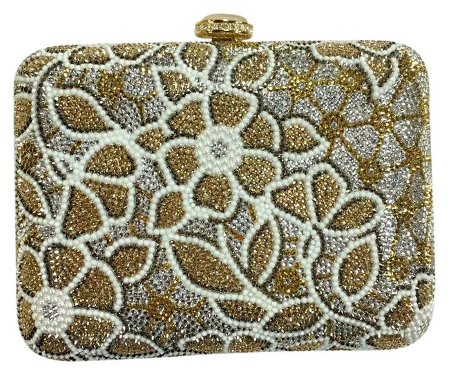 Item - Encrusted Gold White & Silver Clutch
