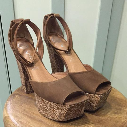 Jeffrey Campbell Tan Platforms