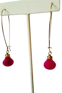 Robert Lee Morris Faceted Fusha Pink Teardrop Drop Earrings
