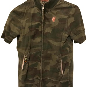 Billabong Short Sleeve Zip Up Camo Jacket