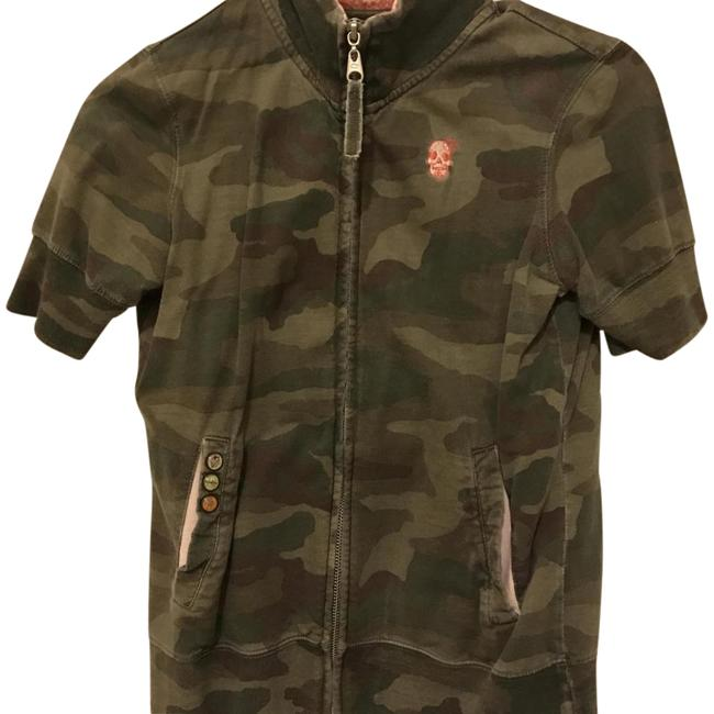 Billabong Short Sleeve Zip Up Camo Jacket Image 0