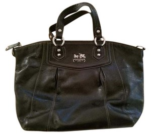 Coach Satchel in BLACK/SILVER