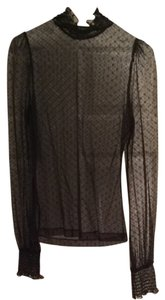 Bebe Sheer Lace Top Black