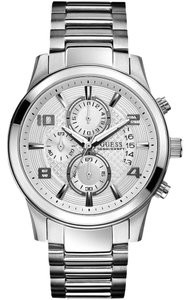 Guess GUESS Men's U0075G3 Masculine Retro Dress Chronograph Stainless Steel