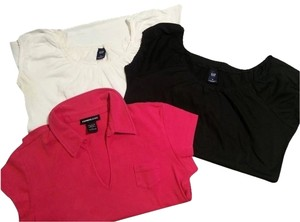 Gap and Express T Shirt Black & White & Fuschia Pink