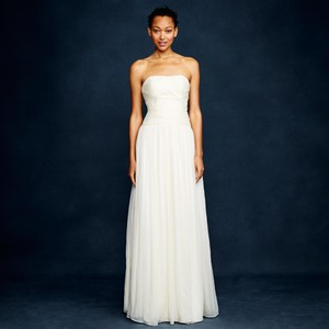 J.Crew Ivory Silk Chiffon Ava Feminine Wedding Dress Size 12 (L)