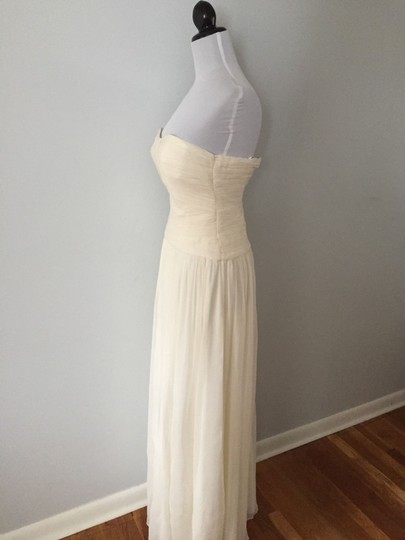 J.Crew Ivory Silk Chiffon Ava Feminine Wedding Dress Size 12 (L) Image 4