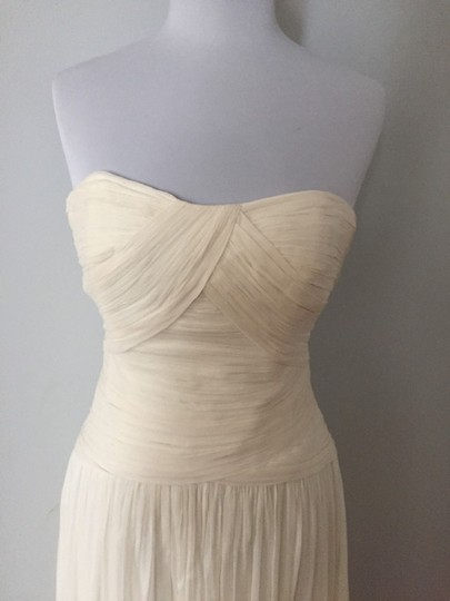 J.Crew Ivory Silk Chiffon Ava Feminine Wedding Dress Size 12 (L) Image 6