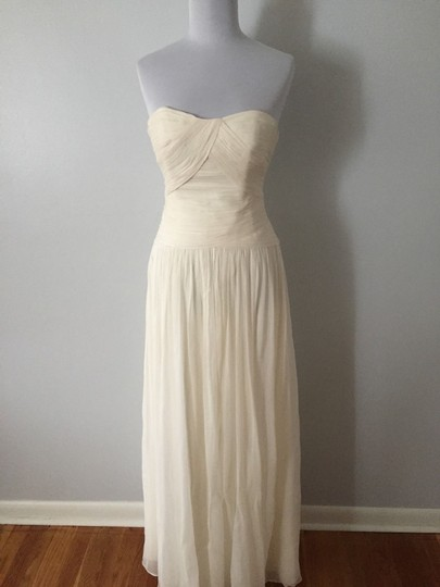 J.Crew Ivory Silk Chiffon Ava Feminine Wedding Dress Size 12 (L) Image 8