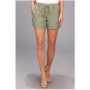 Trina Turk Silk Drawstring Shorts Green
