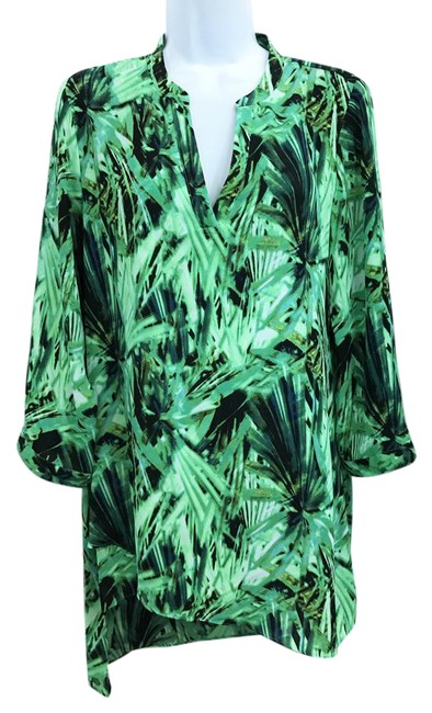 Preload https://img-static.tradesy.com/item/20934251/zac-and-rachel-and-printed-asymmetrical-hemline-green-tunic-short-casual-dress-size-8-m-0-1-650-650.jpg