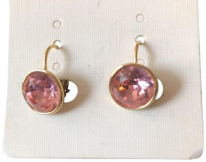 Other Rose Round Drops/Yellow Gold Tone Setting