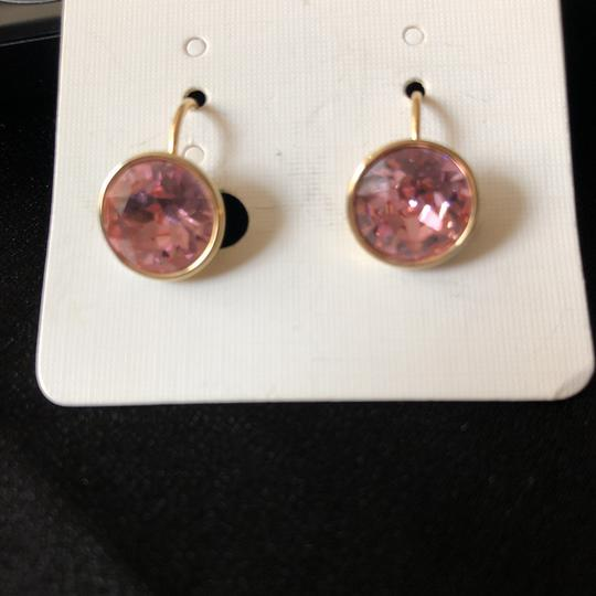 Other Rose Round Drops/Yellow Gold Tone Setting Image 3