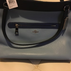 Coach Tote in navy blue/baby blue