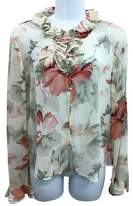 St. John Silk Blouse Button Down Shirt