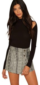 Nasty Gal Tweed Skort Houndstooth